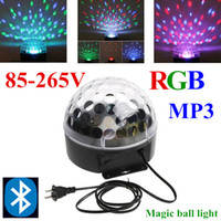 Wholesale RGB Bluetooth MP3 Magic Crystal Ball LED Music stage light W Home Party disco DJ party Stage Lights lighting Remote Control lamp