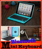 ipad mini keyboard - Top Promotion Waterproof Dustproof in1 Bluetooth Wireless Keyboard Foldable Case Stand Cover Holder for iPad Mini