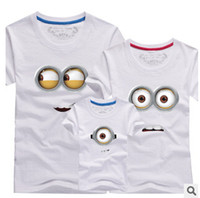 Wholesale OFF Family Clothes Minions T Shirts Father and Son Suits Mother Daughter Matching T Shirt Bobo Choses