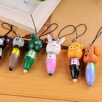 animal cells functions - Creative Stationery Wooden Cartoon Animals Carry Pen Short Wooden Pen Cell Phone Accessories Cartoon Wooden Ballpoint