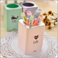 Wholesale Lovely creative multi purpose reservoir brush pot South Korea fashionable stationery color pen container order lt no track