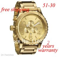 Wholesale New CHRONO Chrono All Gold Chronograph Mens Watch A083 Watch original brand
