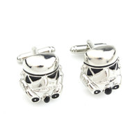 Wholesale Star Wars Cufflinks for Men Stormtrooper Mask Design Cufflinks Men Jewelry Cuff Links Accessories L130