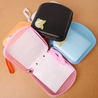 Wholesale New Portable Cards CD DVD Storage Zipper Bag Case Hard Box Wallet Album Holder LY358