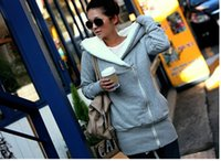 Wholesale 2015 Winter Women Hoodie Coat Zip Up Outerwear Warm Jackets Coats for Women Sport sweatshirt Thickening women tracksuit