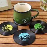 vinyl record - New Arrival Vinyl Coaster Retro Vinyl CD Record Cups Drinks Holder Mat Tableware Placemat Colors Hot Sale