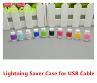 Wholesale Lightning Cable Saver Protect for iPhone S C plus Charging Cable Protector Saver