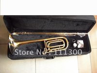 bass trombone cases - best music Gold Bb F Bass Trombone Cupronickel Tuning Pipe W case in stock