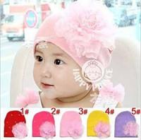big cpam - Retail CPAM fashion baby beanie hat big flower rhinestone newborn knit hats colors