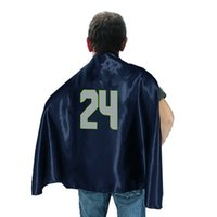 Wholesale 2015 American Football Team Hero Cape Sport Shawls Double Side Team Super hero Capes Youth Capes One size for most adult Shawls