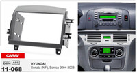 aftermarket dashboard - CARAV Aftermarket Double Din Radio Stereo Mount Frame Installation Dashboard Dash Kit for HYUNDAI Sonata NF Sonica