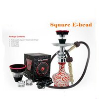 Wholesale newest square ehead popcorn w starbuzz e head hookah shisha amanoo e head firkin pop30 e cig electronic cigarette e head ehookah eshish
