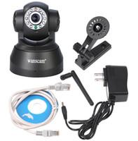 Cámara IP inalámbrica WIFI Webcam con Visión Nocturna(HASTA 10 metros) 10 LED de INFRARROJOS de Doble Audio Pan/Tilt Soporte IE S61