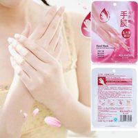 Wholesale 7pairs Hand Mask Moisturizing Gloves Skin Care Shea Butter Smoothing Whitening Anti Wrinkle Hand Peeling Exfoliator DHL