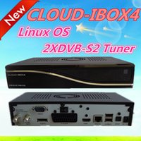 Wholesale 5pcs CLOUD IBOX4 Digital Satellite Receiver with DVB S2 Twin Tuner support vu duo image cloud ibox Linux Operating System