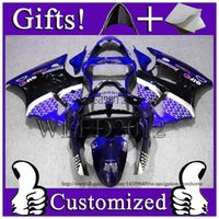 ads abs - Aftermarket Motorcycle zx6r Body Kit EIF blue black Fairing For Kawasaki Ninja ZX R Ad