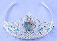 Wholesale 2015 children girl frozen crown frozen tiaras Elsa Anna hairpin Princess cosplay tiara Party Hair Accessories snow queen hairbands CS26