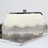 beading chains - Factory Retaill brand new handmade pretty diamond evening bag beaded bag with satin for wedding banquet party porm