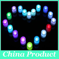electronic candle - LED wedding tealights electronic candle light party event Halloween flameless flickering battery candles light