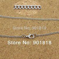 Cheap 10pcs lot Wholesale antique bronze gold silver rhodium metal chains with lobster clasp Fit necklace,bracelets F1882