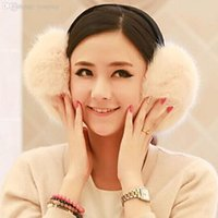 Wholesale New Pure Color Rabbit Hair Earmuffs Autumn And Winter Fur Wool Earmuffs For Women And Men Colors Big Size