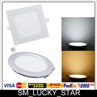 Wholesale X10 CREE Led Panel Lights W W W W W Round Square V Warm Cool White Indoor Ceiling Lamps Lighting Cozy Downlights