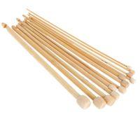 Wholesale Hot Bamboo Crochet Hook Sizes mm mm Handcraft Tools Kit Weaving Needles Needlework tools Set