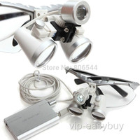 Cheap CE Dental Surgical Medical Binocular Loupes Optical Glass Loupes 3.5X 420mm Sliver