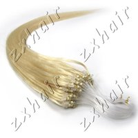 beautiful hair tips - Beautiful gift inch Real Loop tipped Micro Loop Ring Hair Extension Color White Blonde s pack g