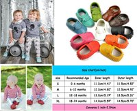 Wholesale Baby tassel Soft Sole Leather shoes Infant Boy Girl Toddler Moccasin Months