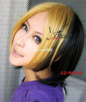Wholesale Hikaru no go Shindou Hikaru Autumn gold short straight cosplay cos anime wig Women s real hair