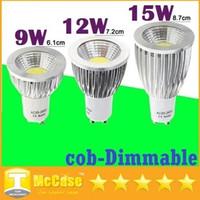 Cheap ce ul csa Super Bright 9W 12W 15W Led Spotlights 120 Angle Dimmalbe COB GU10 Led Light Bulbs High Power AC 110-240V 12V