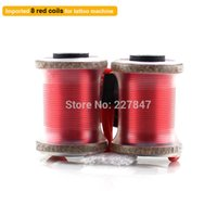 arts imports - mm Imported Tattoo Machine Gun Wrap Coils Power Set Kit Supply Tattoo amp Body Art Red Color
