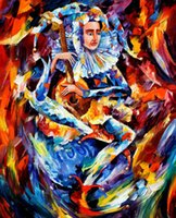 art jester - jester Painting by Leonid Afremov Landscape Modern Art High quality Hand painted
