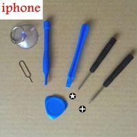 Wholesale 100set Cell Phones Opening Pry Repair Tool Kit Screwdrivers Tools Set Micro Nano Sim Card Eject Pin Key For iPhone S