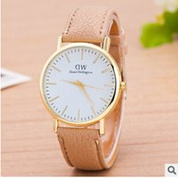 Wholesale 2015 Christmas Daniel Wellington Large Face plate Watches DW Watch Quartz PU Leather Strap Wristwatch for Unisex Men Women Jewelry gift