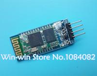 achat en gros de la base arduino-Gros-4 broches HC-06 Bluetooth module de transmission, y compris la plaque de base / ceinture activer et / sortie série radio / machine pour Arduino-
