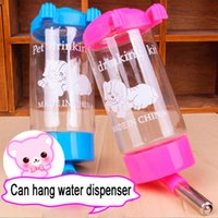 auto dog water feeder - dogs water bottle hanging water Bottle Auto Drinking Head Pipe Practical ml pet dispenser water control automatic dispenser