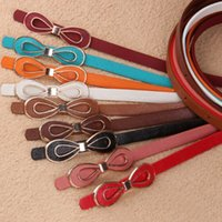 Wholesale New Arrival Korean Brand High Quality Cute Hollow Bow PU Leather Belts for Women piece