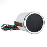 Wholesale Universal Car Motor Universal Smoke Lens mm degree Indicator Oil Temp Gauge White LED Tempreture Meter