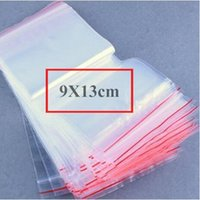Wholesale 9x13 Clear Transparent PE Bag Packing Plastic Bag Zipper Top Bag