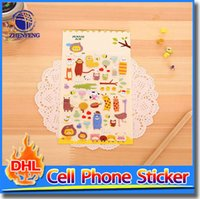 accessories gift stickers - Cell Phone Sticker Animal Style Cartoon DIY Stickers Decoration Diary Hold Tight Decoration Small Phone Accessory Gifts