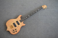 bass active preamp - New Custom Shop Quilted Maple Ply Neck Thru Ebony Fretboard Active Preamp Pickup Strings Electric Bass Guitar