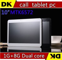 Cheap SGpost HOT! New 10 inch MTK6572 3G phone call tablet pc Dual core camera SIM card 1G+8G Andriod4.2 GPS Bluetooth free shipping!discount