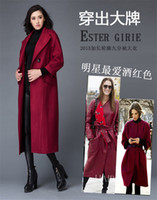 Wholesale 2016 Newest original fashion Suit collar color wool long mink lady coat Extended winter women s latest coat Cooles design