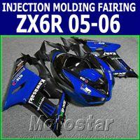 kawasaki zx6r fairings - 100 Injection molding fairing kit for Kawasaki ZX6R ZX636 black blue motorcycle fairings Ninja ZX R GH18