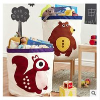 toy organizer box - Elephant Storage Bin Organic Canvas Storage Box Cartoon Animal Storage Bins Home Storage Organization Children s Storage Bags Toys Boxes