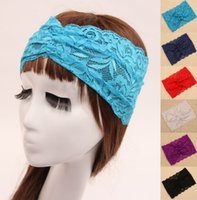 Cheap 2015 Free shipping chic turban headband hair bands fashion lace head wraps accessories for women lady girls headband