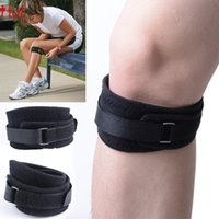 Wholesale 2015 Hot Kneelet Kneecap Flexible Riding Bike Bicycle Adjustable Sports Leg Knee Support Brace Wrap Protector Black Knee Coverage SV001935