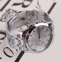 Cheap 12pcs lot Classical Round Dial Wrist Watch With Steel Band Metal Quartz Watch Gentlemen's Accessories SW269